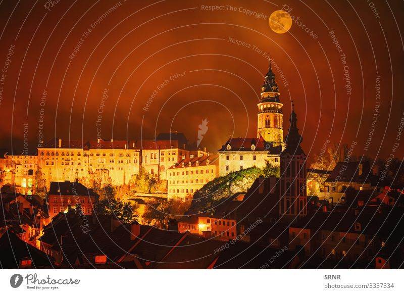 Cesky Krumlov Vacation & Travel Tourism Trip Sightseeing Hiking Town Old town Castle Places Architecture Dark Retro Ancient Bohemian Crumlaw castle tower