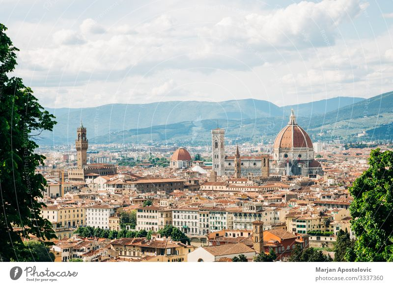 Panoramic view of the cityscape of Florence, Italy Vacation & Travel Tourism Trip Sightseeing City trip Art Architecture Tuscany Europe Town Skyline Dome