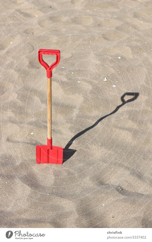 Shovel in sand Leisure and hobbies Vacation & Travel Tourism Trip Summer Summer vacation Sun Beach Ocean Island Waves Sports Swimming & Bathing Build Relaxation