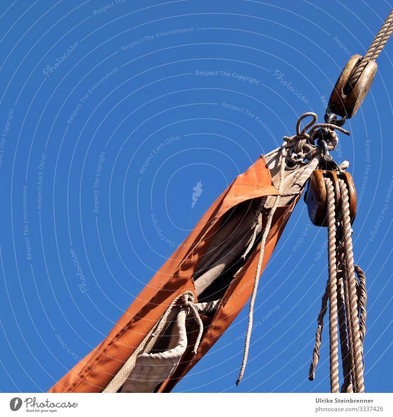 Detail of the rigging of a sailing ship Sail Sailing boat Rigging detail Dew Rope Pulley block Sailing ship blocks rigged Spool Navigation Watercraft Sailboat