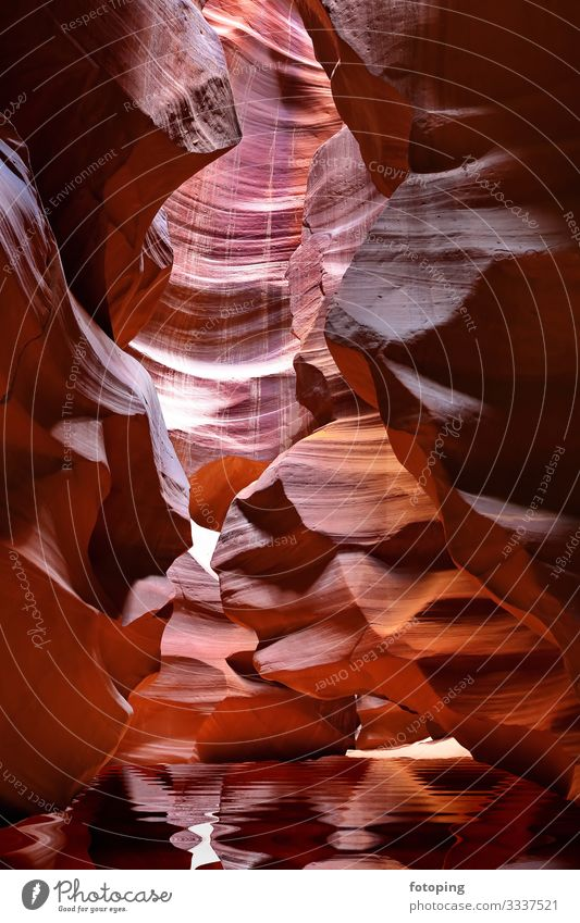 Antelope Canyon in Arizona Beautiful Vacation & Travel Tourism Nature Landscape Sand Air Water Rock Tourist Attraction Stone Illuminate Red Americas antelope