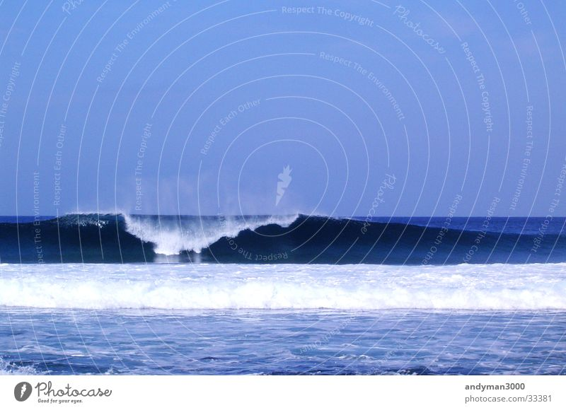 Blue Water Loneliness Waves Surfing White crest