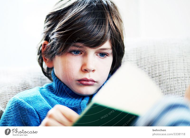printed product | we love books!! observantly Know concentrated Child hollowed Infancy Boy (child) Colour photo Reading Book Study Education Parenting