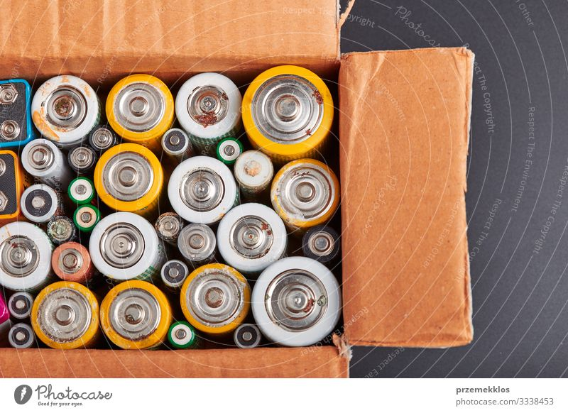 Discharged batteries collected to recycle Environment Packaging Old Green Energy Considerate Environmental pollution Environmental protection Battery Recycling
