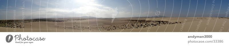 Sun Loneliness Far-off places Warmth Sand Large Desert Physics Hot Beach dune Panorama (Format) Fuerteventura El Jable