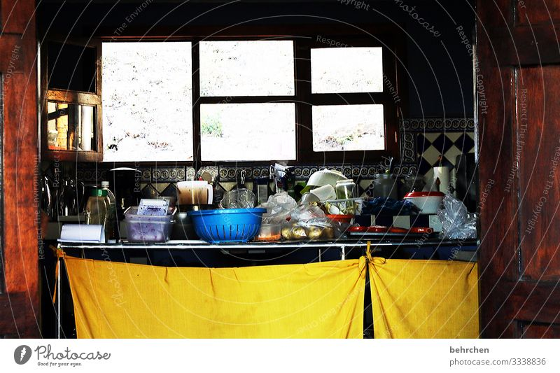 Insights Costa Rica Kitchen kitchen utensils boil Untidy Vacation & Travel Adventure Tourism Trip Freedom Far-off places Colour photo Exterior shot Deserted Pot
