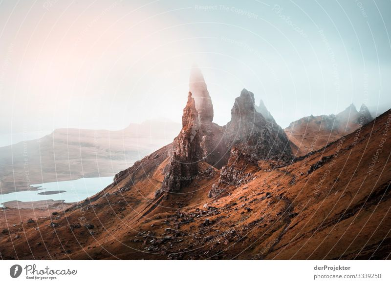 Old Man of Storr on the Isle of Skye Vacation & Travel Tourism Trip Adventure Far-off places Freedom Mountain Hiking Environment Nature Landscape Plant Spring