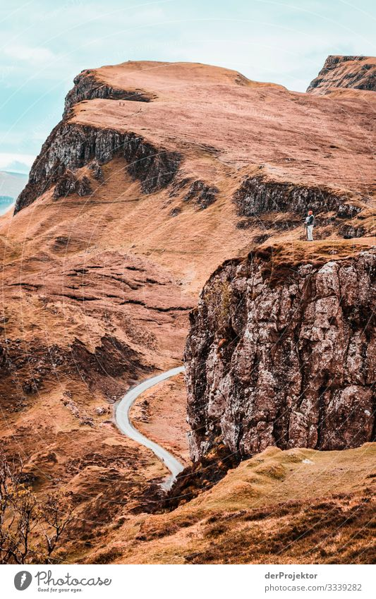 Road on Isle of Skye Vacation & Travel Tourism Trip Adventure Far-off places Freedom Mountain Hiking Environment Nature Landscape Plant Spring Bad weather Rock