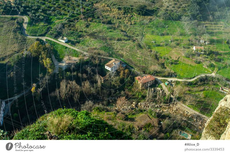 Ronda natural landscape aerial view Andalusia Spain Vacation & Travel Hiking Nature Landscape Plant Grass Garden Meadow Field Canyon Tagus de Ronda Europe