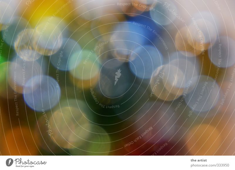 sea of light Art Round Many Multicoloured Light (Natural Phenomenon) Point of light Colour photo Blur