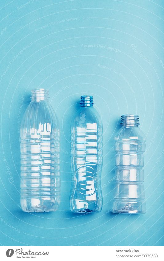 Empty plastic bottles collected to recycling Bottle Save Environment Container Packaging Plastic packaging Blue Environmental pollution Environmental protection