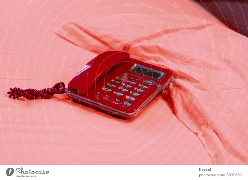 red phone on pink bed , china Tea Bowl Lifestyle Relaxation Tourism Trip Bedroom Telephone Plastic Love Sleep Sex To call someone (telephone) Old Cool (slang)