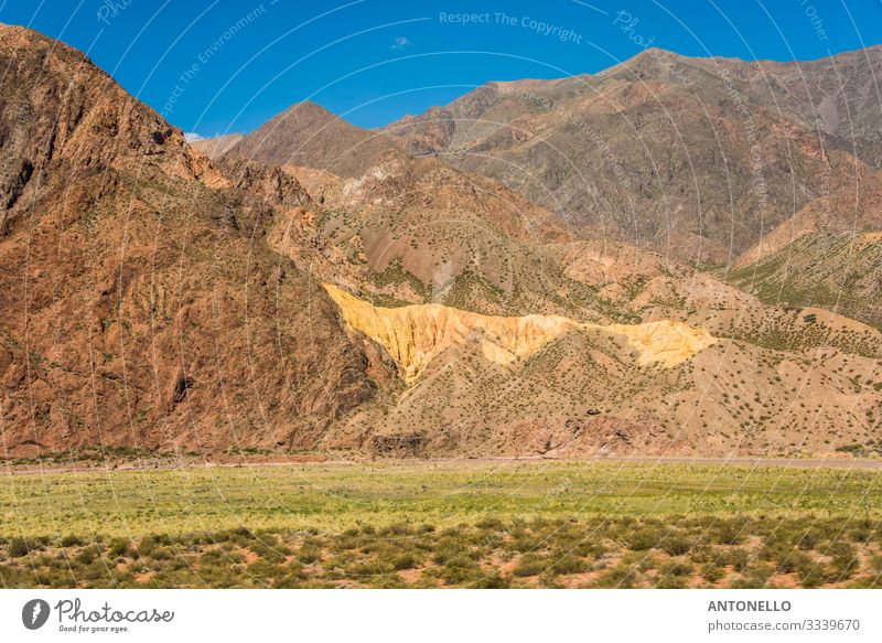 An amazing golden hill in the Andes like a vein of gold Vacation & Travel Tourism Adventure Freedom Expedition Summer Mountain Hiking Environment Nature