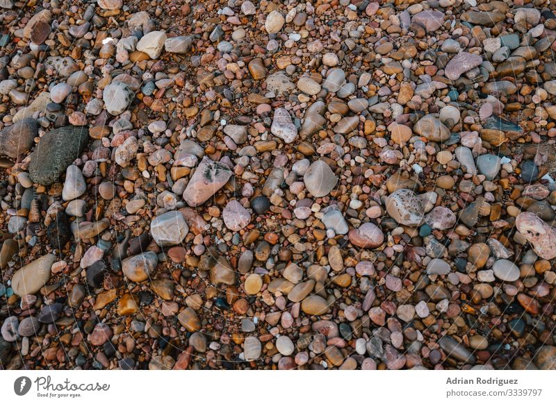 Texture with stones from a beach Harmonious Wallpaper Rock Collection Stone Cool (slang) Wet Gray Colour Arrangement gravel Material Pebble round smooth mineral