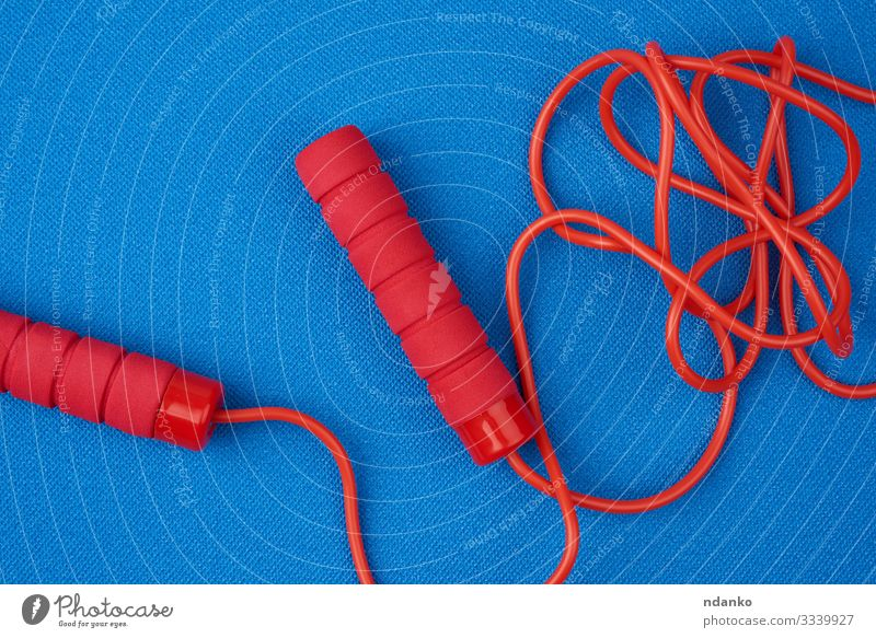 red jump rope Lifestyle Wellness Leisure and hobbies Playing Sports Tool Rope Infancy Toys Plastic Line Fitness Jump Athletic Long Modern New Blue Red Power