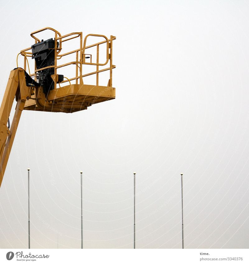 Overview device | lifted Work and employment Workplace Construction site working platform Hydraulic lift Logistics Services Machinery Technology Crane Flagpole