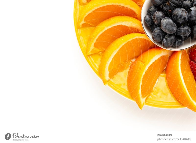 Assortment of fresh fruits seen from above Food Vegetable Orange Nutrition Vegetarian diet Diet Bowl Healthy Eating Fresh Banana Strawberry Blueberry Mango