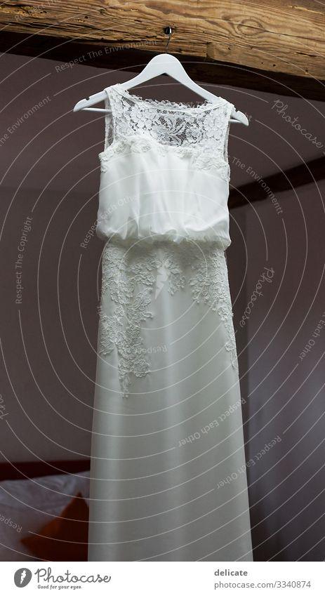 wedding dress Wedding dress Dress Woman Colour photo Love Elegant Day Adults Feminine Feasts & Celebrations Style Joy Happiness Fashion Romance get married