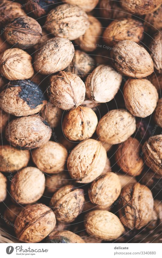 walnuts Walnuts Walnut kernel Harvest Food Nut Shallow depth of field Brown Delicious Nutshell Close-up Nutrition Vegetarian diet Organic produce