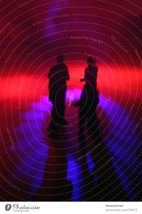 own goal Light Red Party Group Dance Shadow Party goer Dance floor Clubbing Party night Lighting Dark Interior shot Silhouette