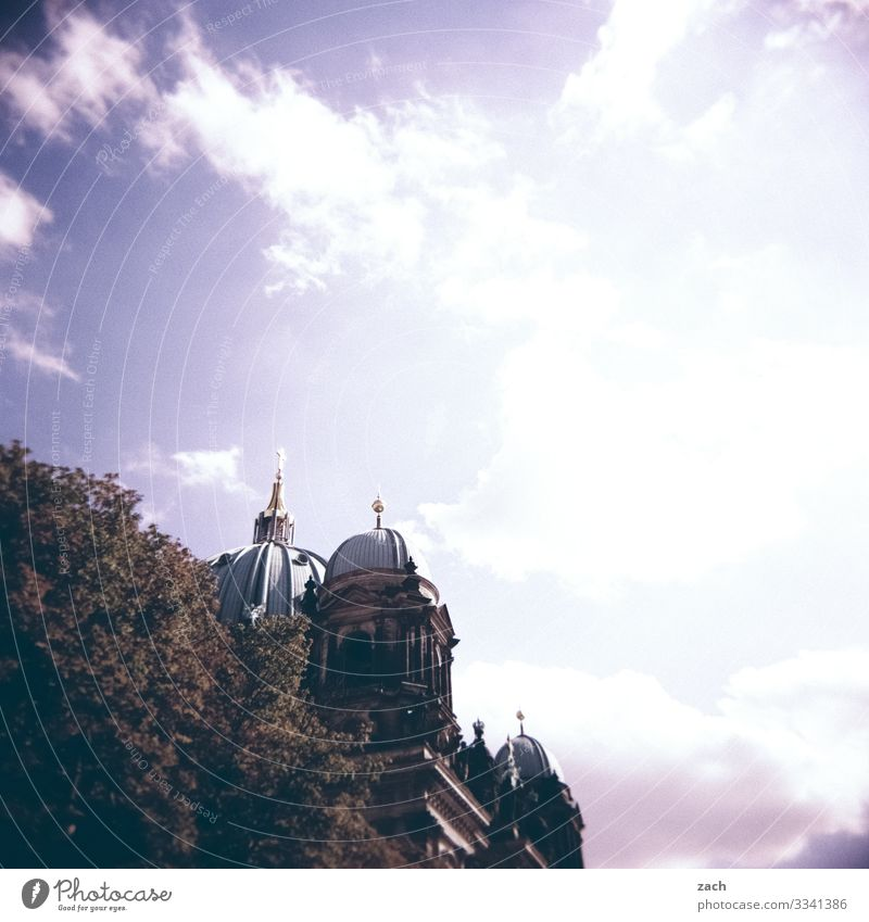 Hidden Sky Beautiful weather Plant Tree Berlin Town Capital city Downtown Old town Church Dome Tower Manmade structures Tourist Attraction Landmark