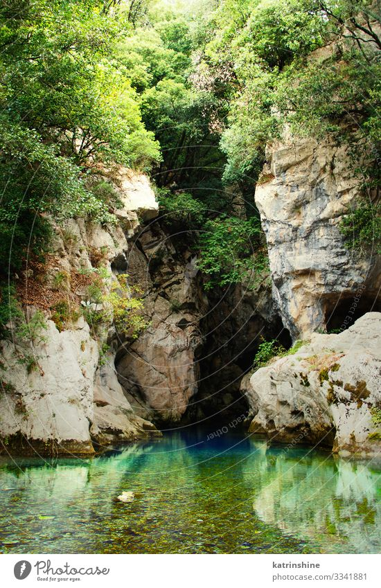 Resurgence of Sammaro River near Roscigno in Campania, italy Vacation & Travel Tourism Mountain Nature Landscape Street Historic Cave cilento Italy gorges