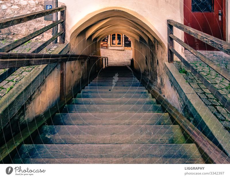 The exit! Architecture Environment Village Town Old town Places Wall (barrier) Wall (building) Stairs Stone Wood Discover Looking Brown Ladder Lanes & trails