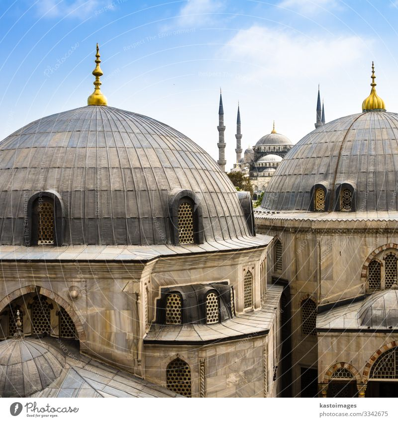 Blue ( Sultan Ahmed ) Mosque, Istanbul, Turkey Vacation & Travel Tourism Culture Landscape Sky Building Architecture Monument Historic Religion and faith