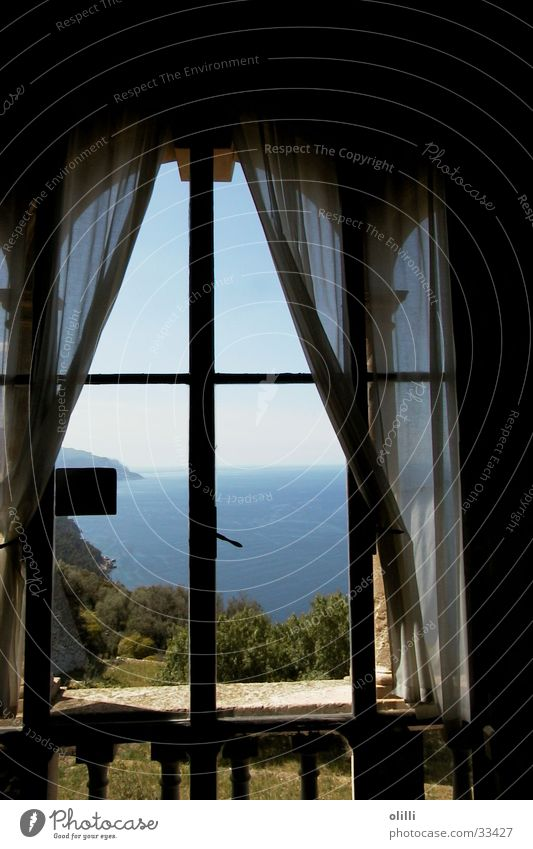 Window Europe Vantage point Majorca Mediterranean sea Son Marroig