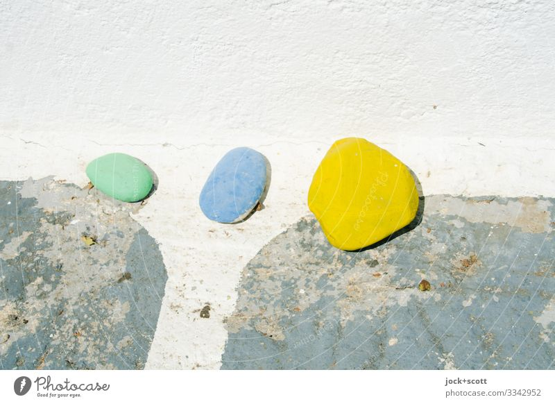 1 2 3 Style Street art Greece Wall (barrier) Decoration Collection Stone Plaster Simple Small Under Warmth Happiness Attentive Orderliness Inspiration