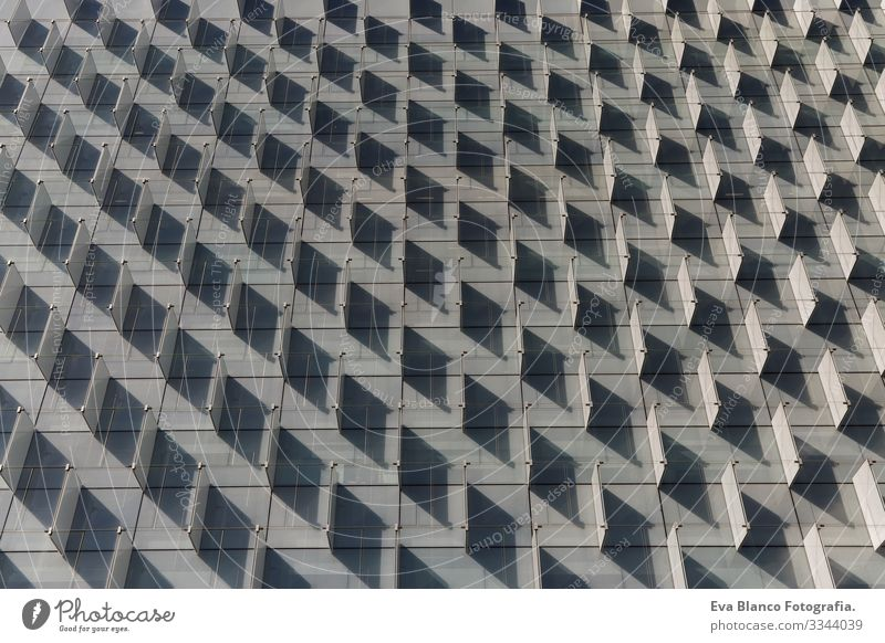 front view of a pattern shadows in a building. Architecture. Horizontal Design Abstract Vantage point Shadow Housing Building Block Construction