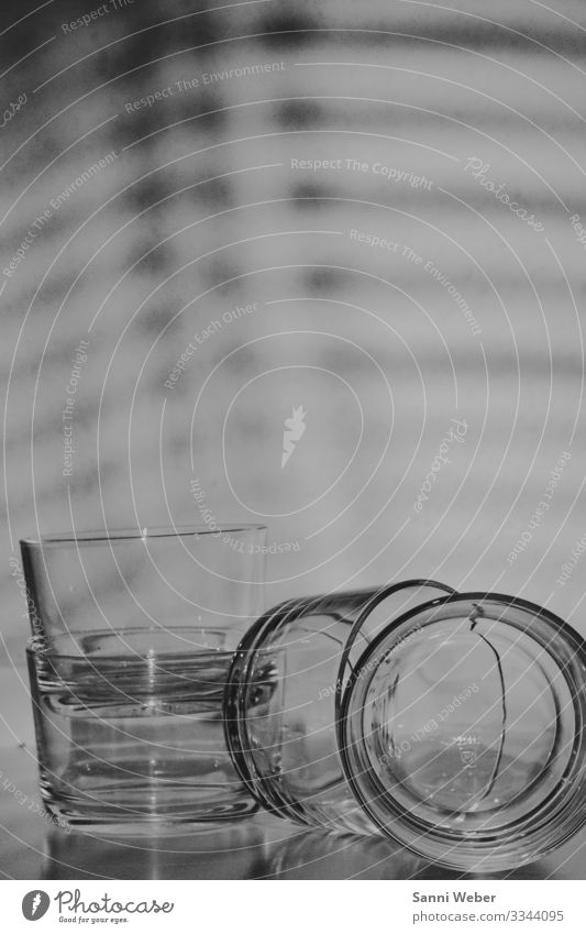Object_1 Glass Creativity Black & white photo Shadow Light (Natural Phenomenon) Reflection 4 Interior shot Experimental Abstract Deserted Copy Space top