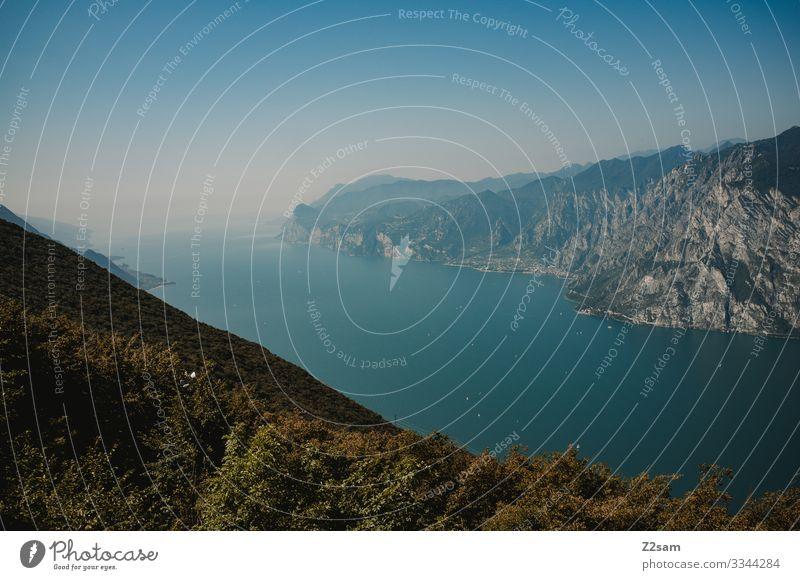 lago di garda alpine crossing Lake Garda Mountain bike mtb transalp Lakeside Length wide panorama Height mountain Alps Nature Forest Vacation & Travel
