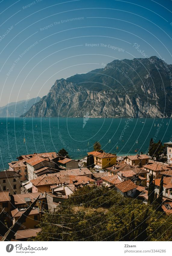 Torbole / Lake di garda Nature Landscape Sky Summer Beautiful weather Mountain Village Small Town Natural Blue Vacation & Travel Leisure and hobbies Idyll