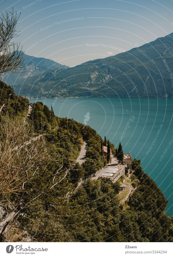 Ponale Street | Lake Garda 2016 alpine crossing Mountain bike mtb transalp ponalestraße lago di garda Torbole outlook panorama Green Forest Winding road steep