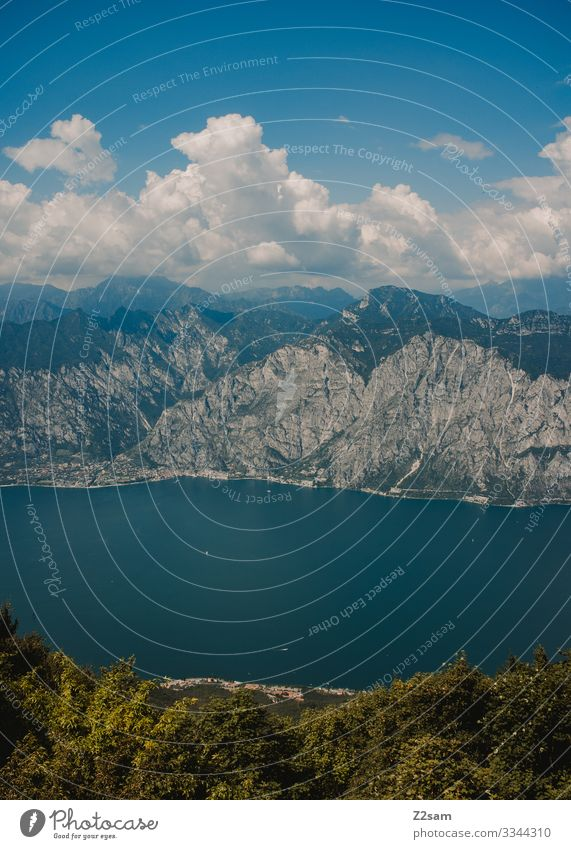 Bocca di Navene | Lake Garda bocca di navene monte baldo mountains Mountain Exterior shot Nature Landscape Colour photo Italy Panorama (View) Blue Sky Green