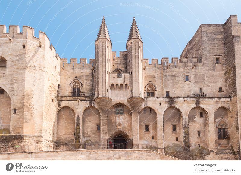 City of Avignon, Provence, France, Europe Sky Vacation & Travel Old Blue Landscape Clouds Architecture Tourism Stone Vantage point Church Historic Castle