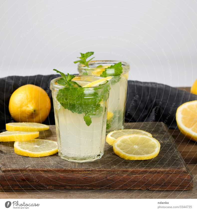summer refreshing drink lemonade Fruit Herbs and spices Vegetarian diet Beverage Lemonade Juice Alcoholic drinks Summer Table Leaf Cool (slang) Fresh Juicy