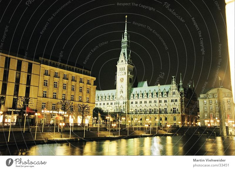 City Hall Hamburg Night City hall Long exposure Manmade structures Calm Europe Architecture