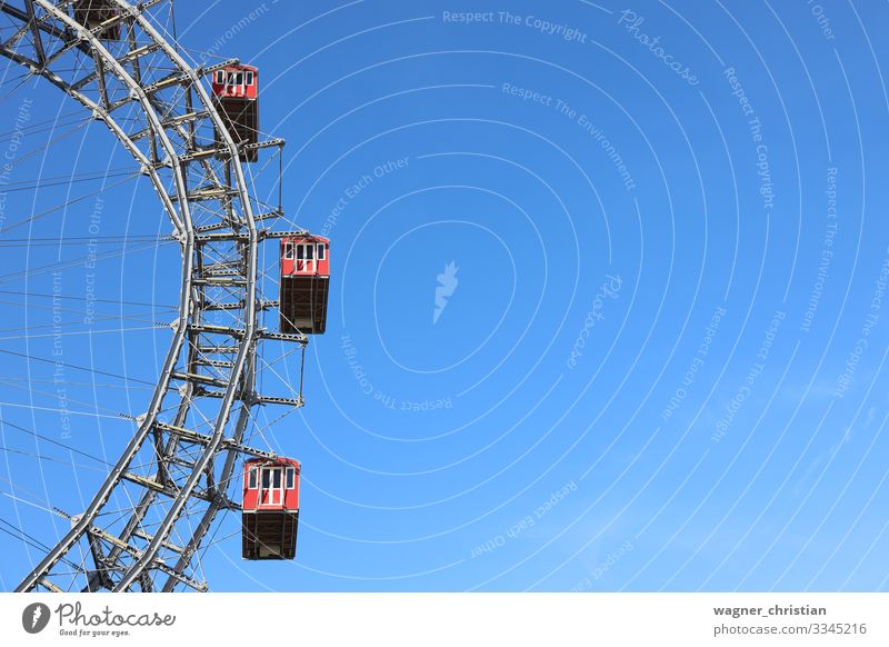 Vienna Prater | Ferris wheel Joy Vacation & Travel Sightseeing Winter Culture Joie de vivre (Vitality) Austria Background picture Freight car Attraction