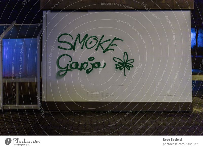 Smoke Ganja Intoxicant Art Culture Youth culture Subculture graffiti Manmade structures Building Wall (barrier) Wall (building) Smoking Blue Green Society