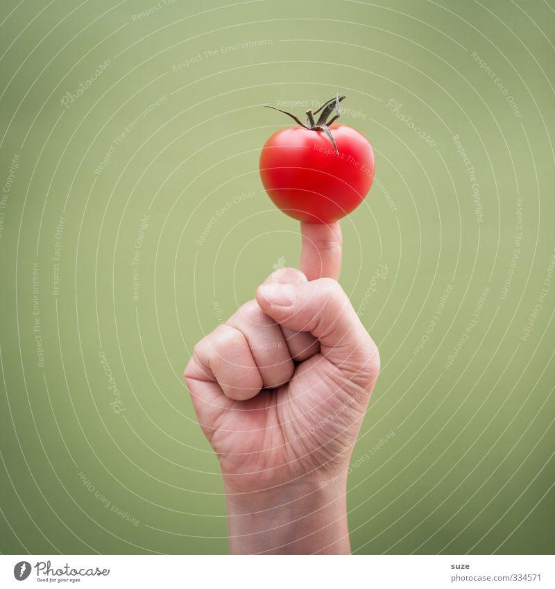 Green Hand Funny Food Fruit Skin Arm Communicate Fingers Cool (slang) Simple Creativity Sign Idea European Vegetable