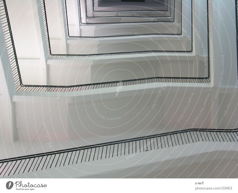 Architecture Tall Stairs Infinity Story Upward Ladder Handrail Staircase (Hallway) Pendulum