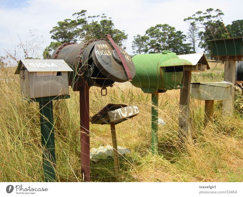Nature Vacation & Travel Loneliness Mail Whimsical Australia Mailbox Outback