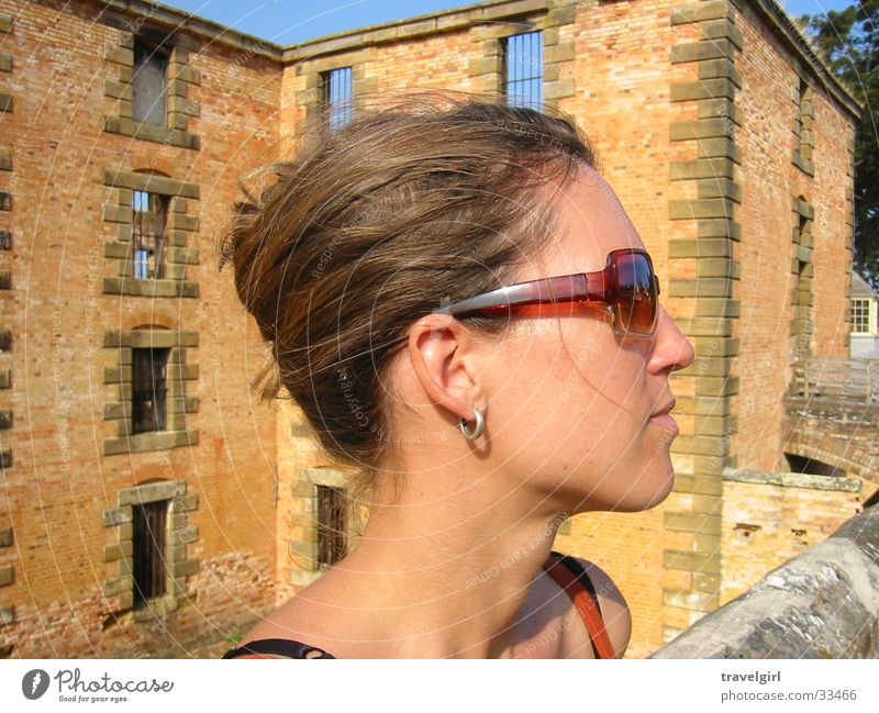 Woman Vacation & Travel Eyeglasses Ruin Sunglasses Australia Tasmania
