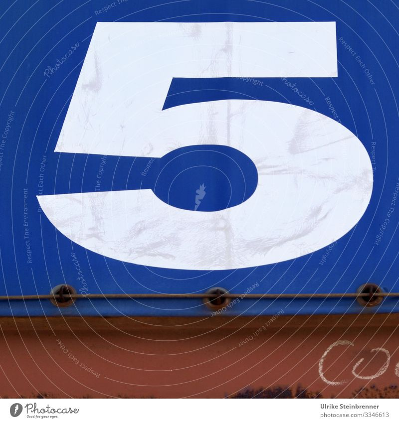 Big number 5 on truck tarpaulin Sightseeing City trip Hamburg Germany Europe Port City Outskirts Harbour Transport Means of transport Logistics Truck