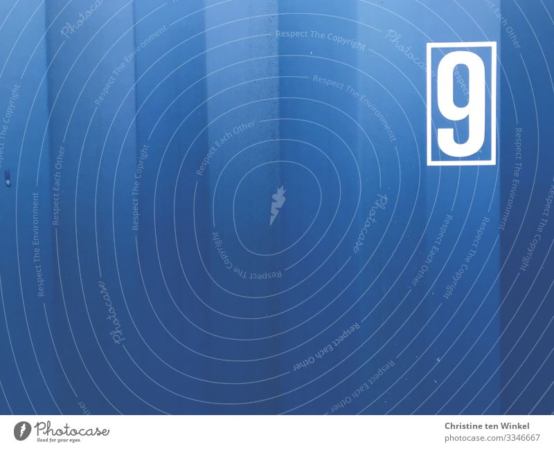 Blue White Background picture Cold Metal Arrangement Signs and labeling Authentic Perspective Uniqueness Digits and numbers Logistics Stripe Near Pure