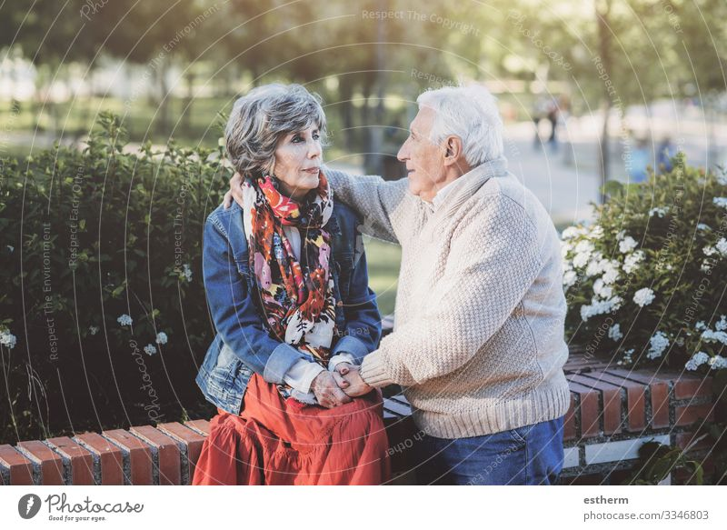Portrait Of Senior Couple outdoor Valentine's Day Wedding Retirement Human being Masculine Feminine Female senior Woman Male senior Man Grandparents