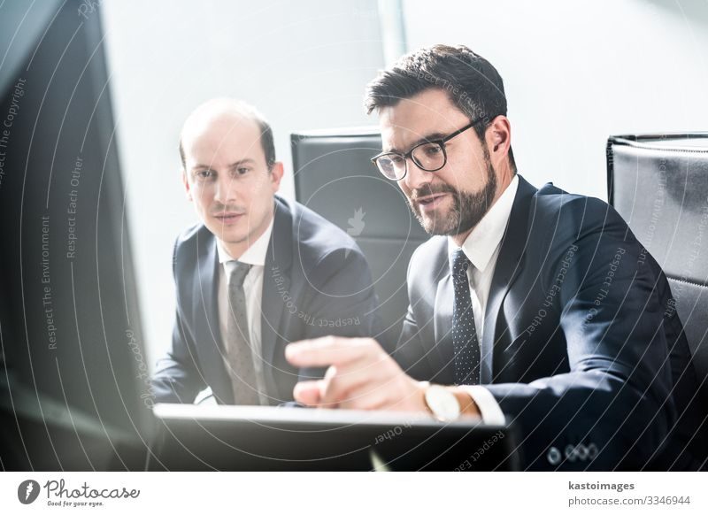 Business team analyzing data at business meeting, Money Success Work and employment Profession Workplace Office Financial Industry Financial institution Meeting