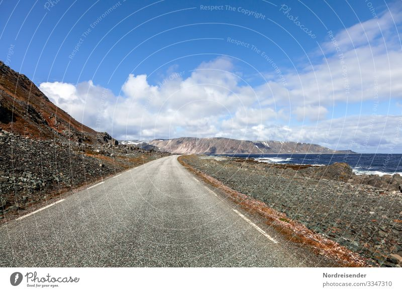 On the road in Northern Europe Vacation & Travel Tourism Adventure Far-off places Freedom Nature Landscape Elements Water Sky Clouds Beautiful weather Rock